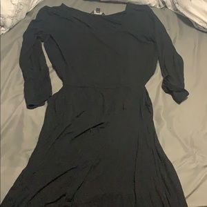 ae black dress with cutouts